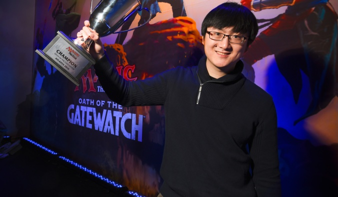 Jiachen Tao, winner of Pro Tour Oath of the Gatewatch